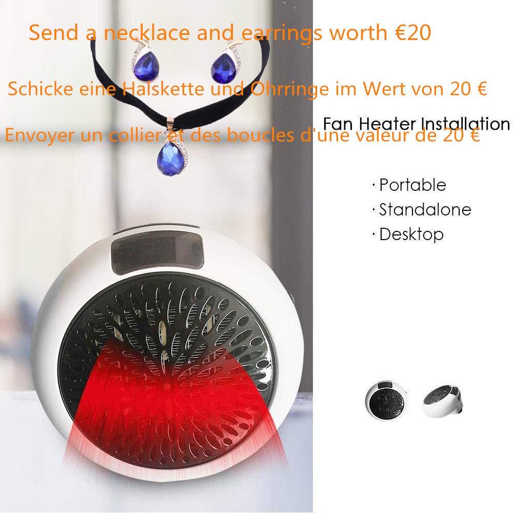 Instant Heater-Heizlü fter Keramik-Heizung Mini Heizung Warm elektrische Steckdosen Heizlü fter Keramik-Heizung Thermostat Elektrische mit Timer Heizlü fter (Weiß ) shenzhen