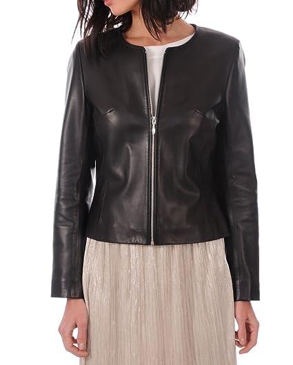 OutFit11 Womens Lambskin Black Jacket X-Small