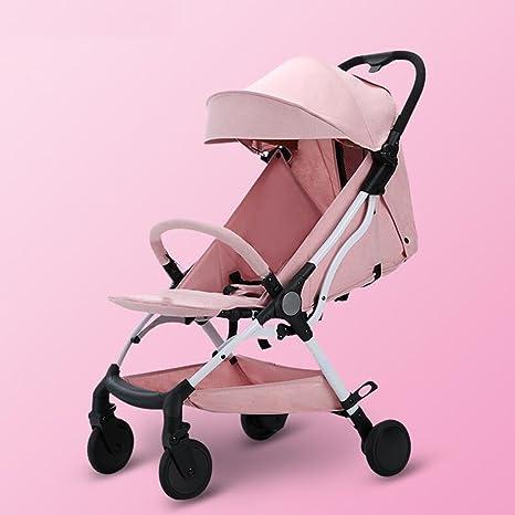 Cochecito de bebé puede sentarse Horizontal plegable plegable de cuatro ruedas Amortiguador Mini coche Cuatro estaciones