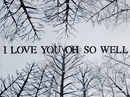 I Love You Oh So Well 9x12 Inch Painting Print Quote Art Tree Artwork Wall Decor