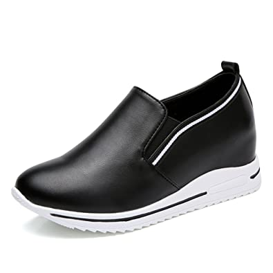 9607b5a2beabc8 Women s Fashion Sneakers Slip Anti-Skid Casual Waking Shoes(Black