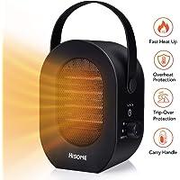 Hisome 600W/1200W Personal Space Heater Fan