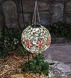 Hanging Solar Multi Flower Jewel Ball, 10 dia.