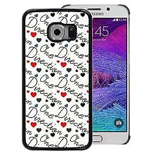 Supergiant (Direction Band Music Group Love Text) Impreso colorido protector duro espalda Funda piel de Shell para Samsung Galaxy S6 EDGE (NOT S6)
