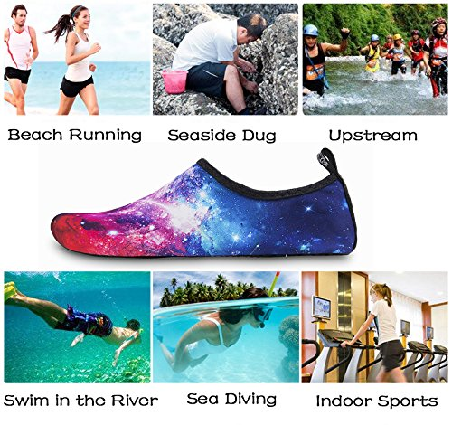 Starry Diving Mens Running Yoga Socks Outdoor Swim Surfing Womens Skin Shoes Water IceUnicorn Barefoot Snorkeling Red Beach for Exercise Shoes Sky qwEfUx7Z