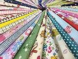 "Misscrafts 25pcs 12"" x 12"" (30cm x 30cm) Top Cotton Craft Fabric Bundle Squares Patchwork DIY Sewing Scrapbooking Quilting Dot Pattern"