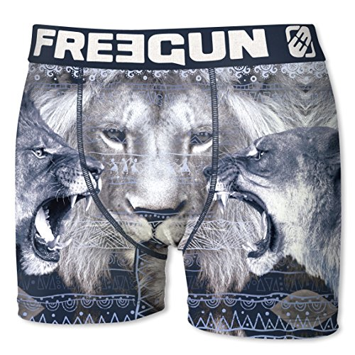 FREEGUN Boxer Men P44 Africa Theme (M, Lion) by FREEGUN