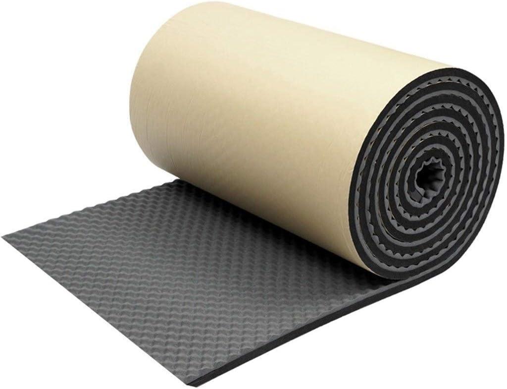 ノイズ低減素材 アコースティックフォームウェッジタイル、ブラックコットンホームスタジオサウンド治療アクセサリフォームを吸音10平方メートル バスルームのパイプで使用できます (Color : Black)