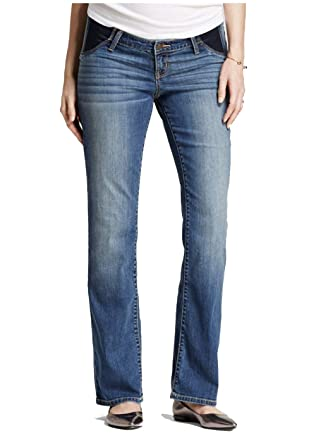 a9b46eea7d0bb Ingrid & Isabel Women's Maternity Bootcut Denim Jeans with Side Inset Panel  - Medium Wash -