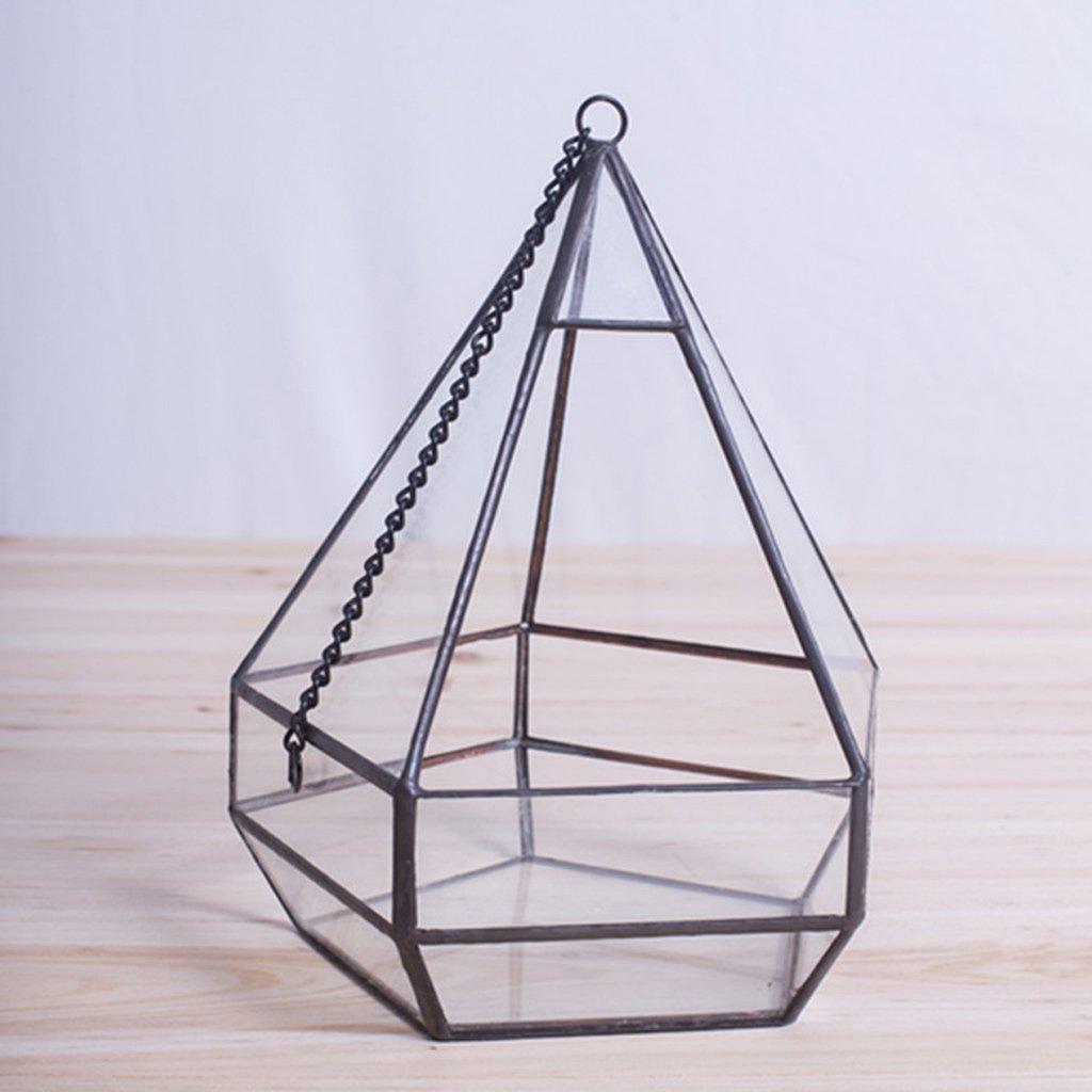 jinxin Geometric Flower Glass Hanging Polygonal Living Flower Manual DIY Container Hollow Transparent Glass Frame
