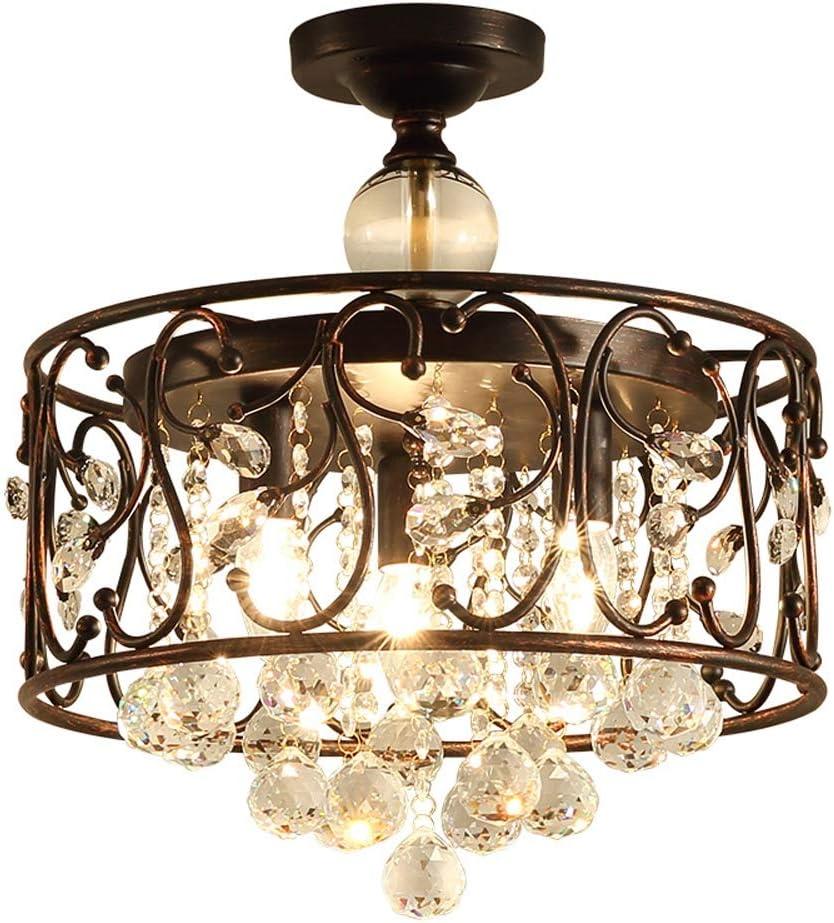 LED Retro Decken Leuchte schwarz Vintage Hänge Ring Lampe Kristall Design Pendel
