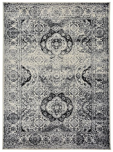 Studio Collection Vintage French Aubusson Design Contemporary Modern Area Rug Rugs 3 Different Color Options (Aubusson Ivory Grey, 8 x 10)