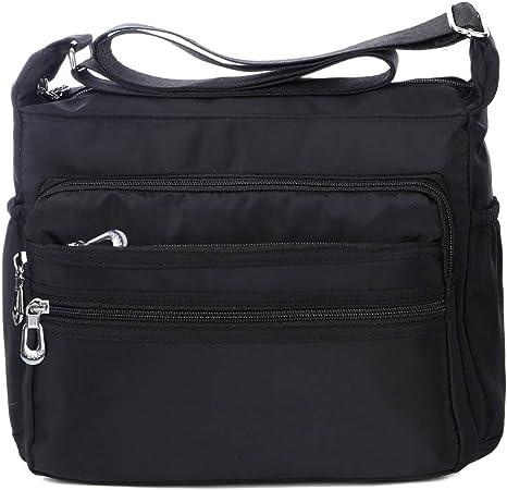 Multi-pocket Women Men Cross-body Shoulder Bag Cell Phone Pouch Tasche Geldbörse