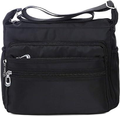 Adagod Men Canvas Bag Casual Travel Mens Crossbody Bag