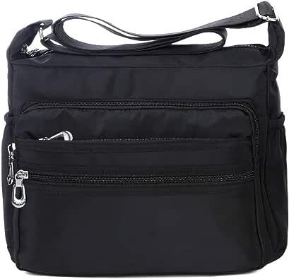 Crossbody Bag for Women Waterproof Shoulder Bag Messenger Bag Casual Nylon Purse Handbag