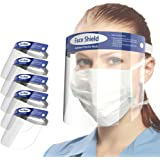 Protetor de rosto completo ajustável antiembaçamento Looflar com faixa elástica de filme transparente e esponja confortável (