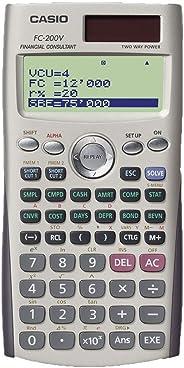 Calculadora Financeira com Monitor de 4 Linhas, Casio, FC-200V, Cinza