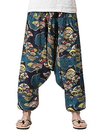Zhhlaixing Pantalones de Yoga para Hombre Harén Pantalones ...