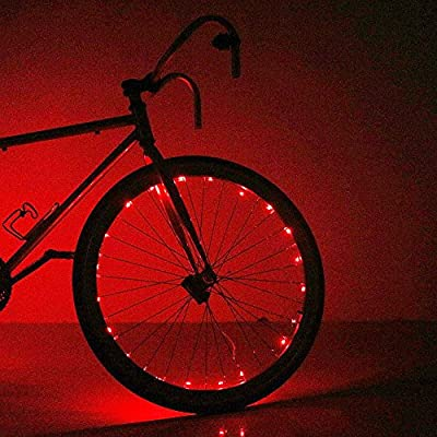 Soondar Super Bright 20-LED Bicycle Bike Rim Lights, Red: Home & Kitchen