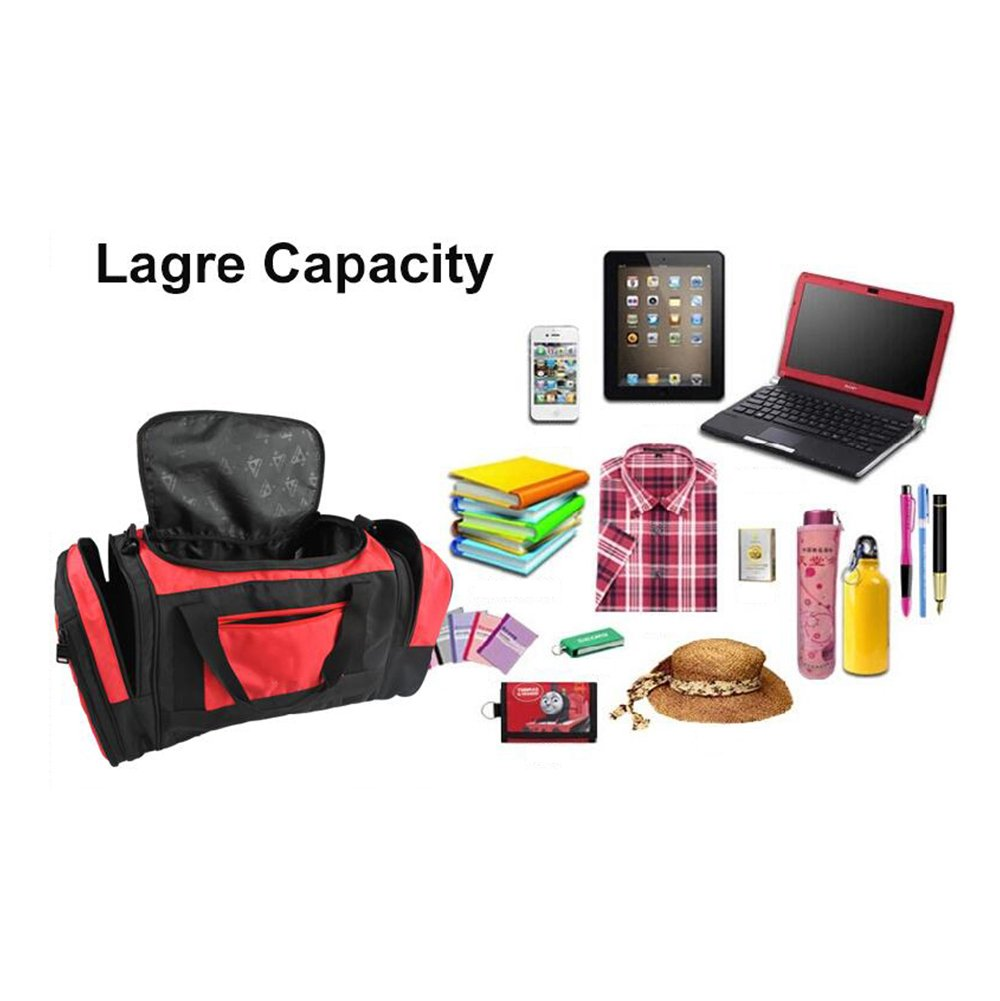 MIMI KING Fishing Chair Luggage Bag With Folding Chair Large Capacity Short Travel Bag Men And Women Portable Hand Bag 552728Cm,Red by MIMI KING (Image #5)