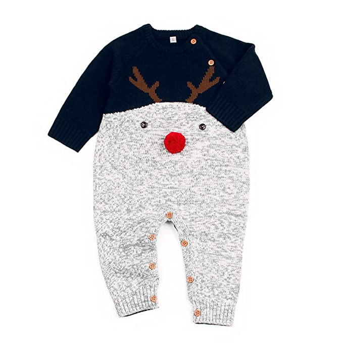 Vine Bebé Mameluco Prendas de Punto niño para Invierno Suéter de niño Suéter Pullover Mangas largas: Amazon.es: Ropa y accesorios