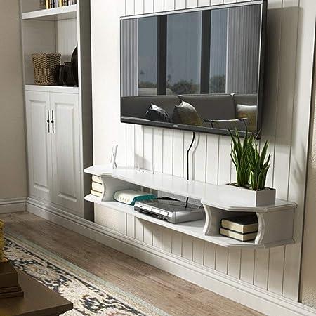 Estante Gabinete de TV flotante Soporte para TV Estante colgante Repisa Estantes de pared Gabinete de TV Consola de medios para reproductores de DVD Cajas de cable Juegos Consolas Estante para decodif: