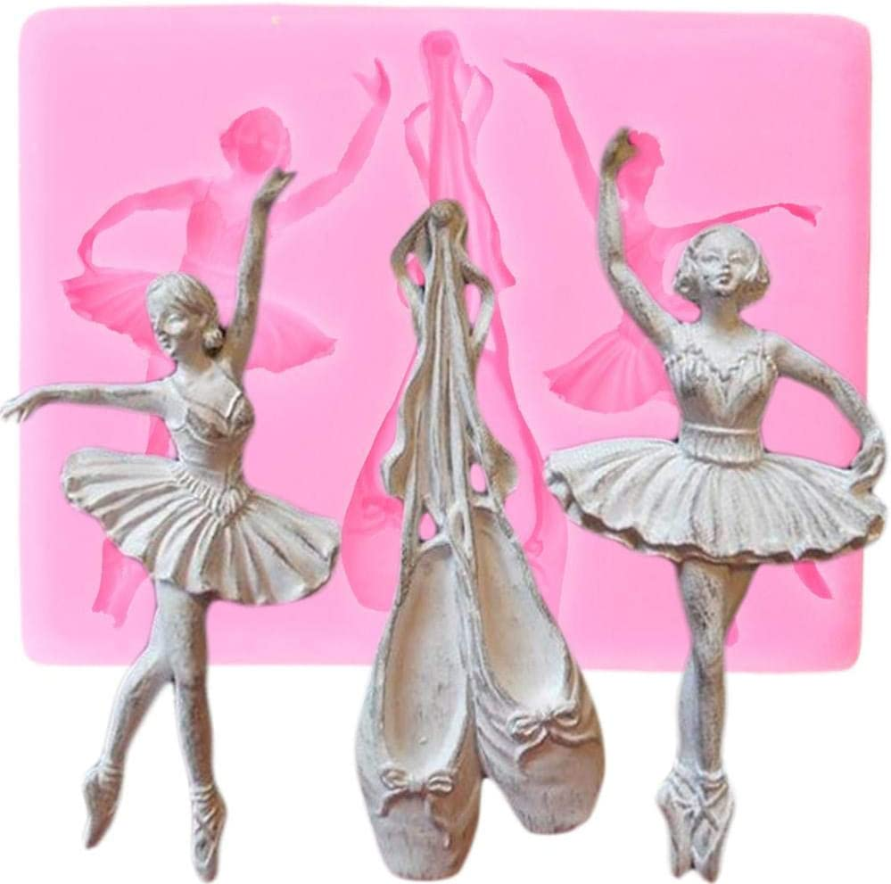 Ballet Dancer Silicone Mould Fondant Cake Decorating Tools Candy Clay Molds
