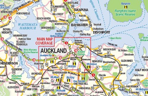 Auckland & North Island 1:12, 500/1:950, 000 Street Map- NZ ...