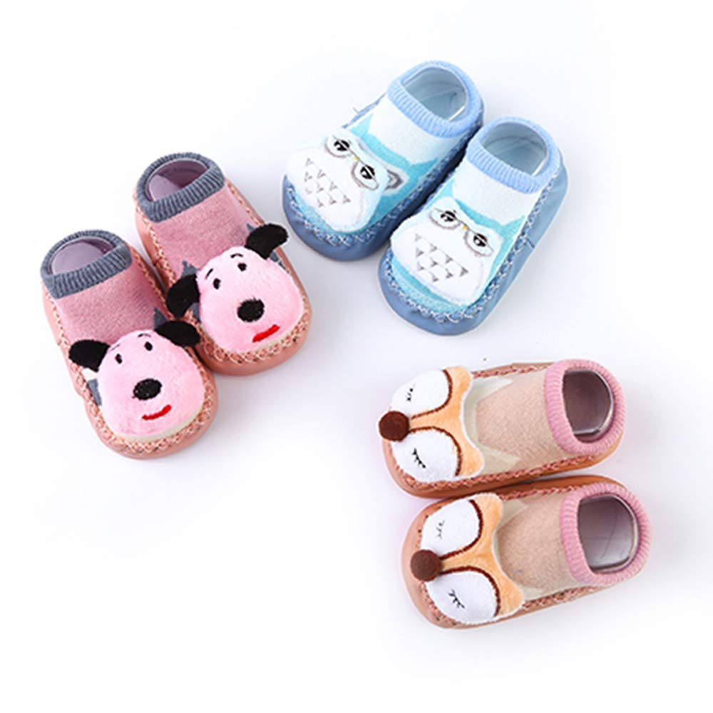❤️ Zapatos para beb/é Primer Paso Ni/ños Infantil Ni/ño Beb/é Ni/ñas Animales de Dibujos Animados Antideslizante Calcetines de Punto de Calor Absolute