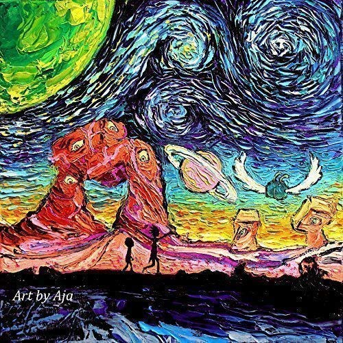 Starry Night print van Gogh Never Saw Another Dimension by Aja choose size and type of paper