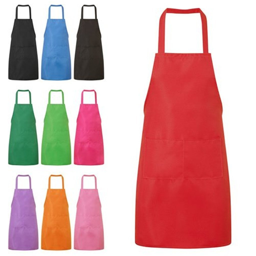 HMILYDYK Kitchen and Cooking Women's Apron with Convenient Pocket Durable Stripe for Women Professional Stripe Chef Apron for Cooking, Grill and Baking (Black) GUAPRON03-01