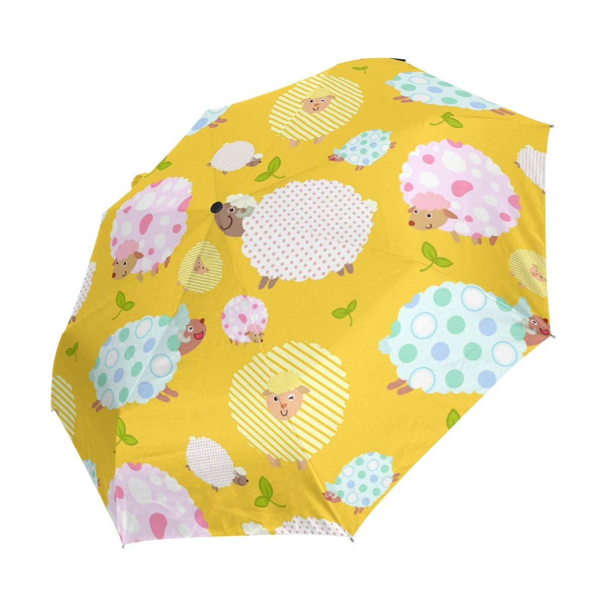 FVFV かわいい猫の鳥 自動折りたたみ傘 UV保護 自動開閉 折りたたみ 防風 日除け 旅行 ビーチ 女性 子供用 B07L9JYTTJ パターン2
