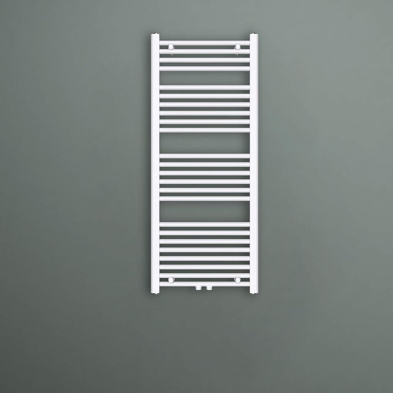 Radiatore Scaldasalviette Termoarredo da Bagno Riscaldamento Elettrico o da Acqua Calda RHE-100x50cm in Acciaio Mai /& Mai Radiatore Piatto in 2 modalit/à di Riscaldadmento Antracite