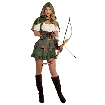 Robin Hood Ladies Fancy Dress Thief Medieval Womens Adults Costume (Women 8-10  sc 1 st  Amazon UK & Robin Hood Ladies Fancy Dress Thief Medieval Womens Adults Costume ...