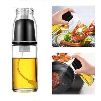 Compra KBstore Dispensador de Pulverizador de Aceite de Oliva e Vinagre - Vidrio Botella de Rociador Spray para Barbacoa/Ensalada/Hornear Pan/Cocina (170 ...