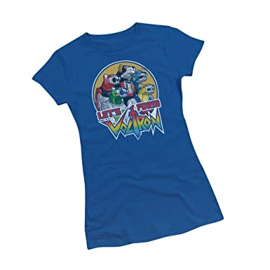 404bff6b Amazon.com: Let's Form -- Voltron Crop Sleeve Fitted Juniors T-Shirt ...