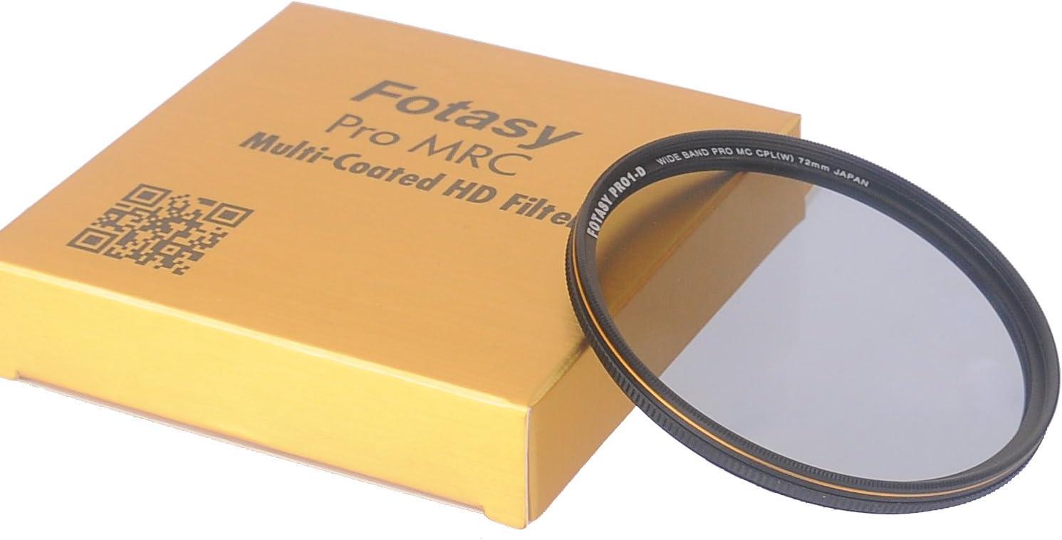 Fotasy 72mm Ultra Slim Circular PL Lens Filter Nano Coatings MRC Multi Resistant Coating Oil Water Scratch 16 Layers Multi-Coated 72mm CPL Filter