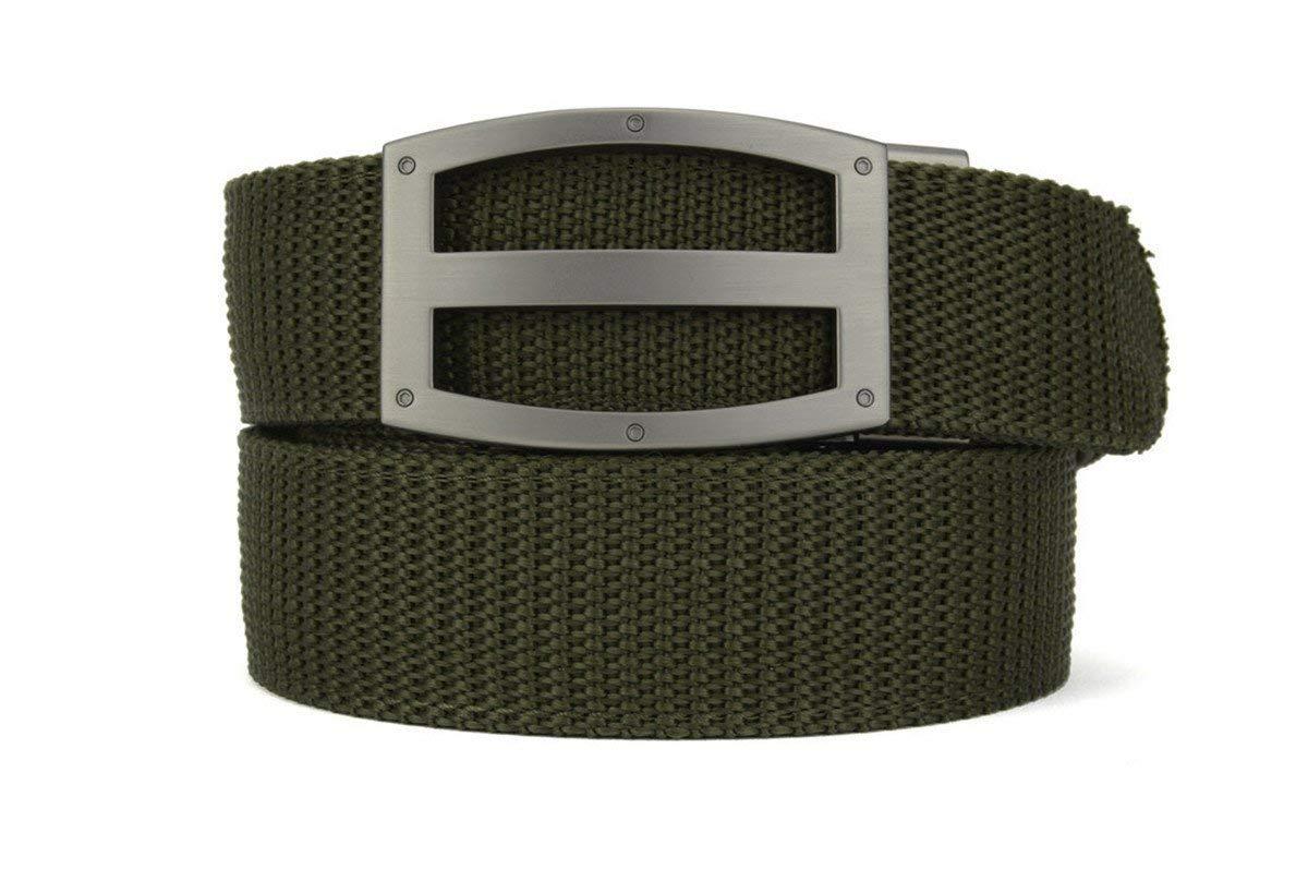 Nexbelt 2019 Titan Series Men's EDC Tactical Gun Belt Ratchet System Technology Nylon Gun Belts (Olive, Regular) by Nexbelt