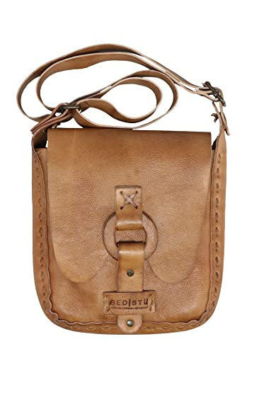 fd51315858d1 Bed Stu Yvette Cross Body Bag in Tan Rustic  Handbags  Amazon.com