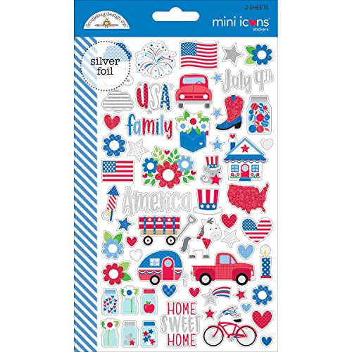 - Yankee Doodle Mini Icon Stickers - Doodlebug