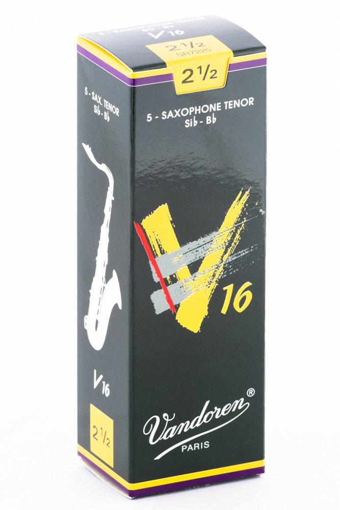 Vandoren SR7225 V16 5 Anches pour Saxophone Ténor 2, 5 Accessoires pour bois/Anches