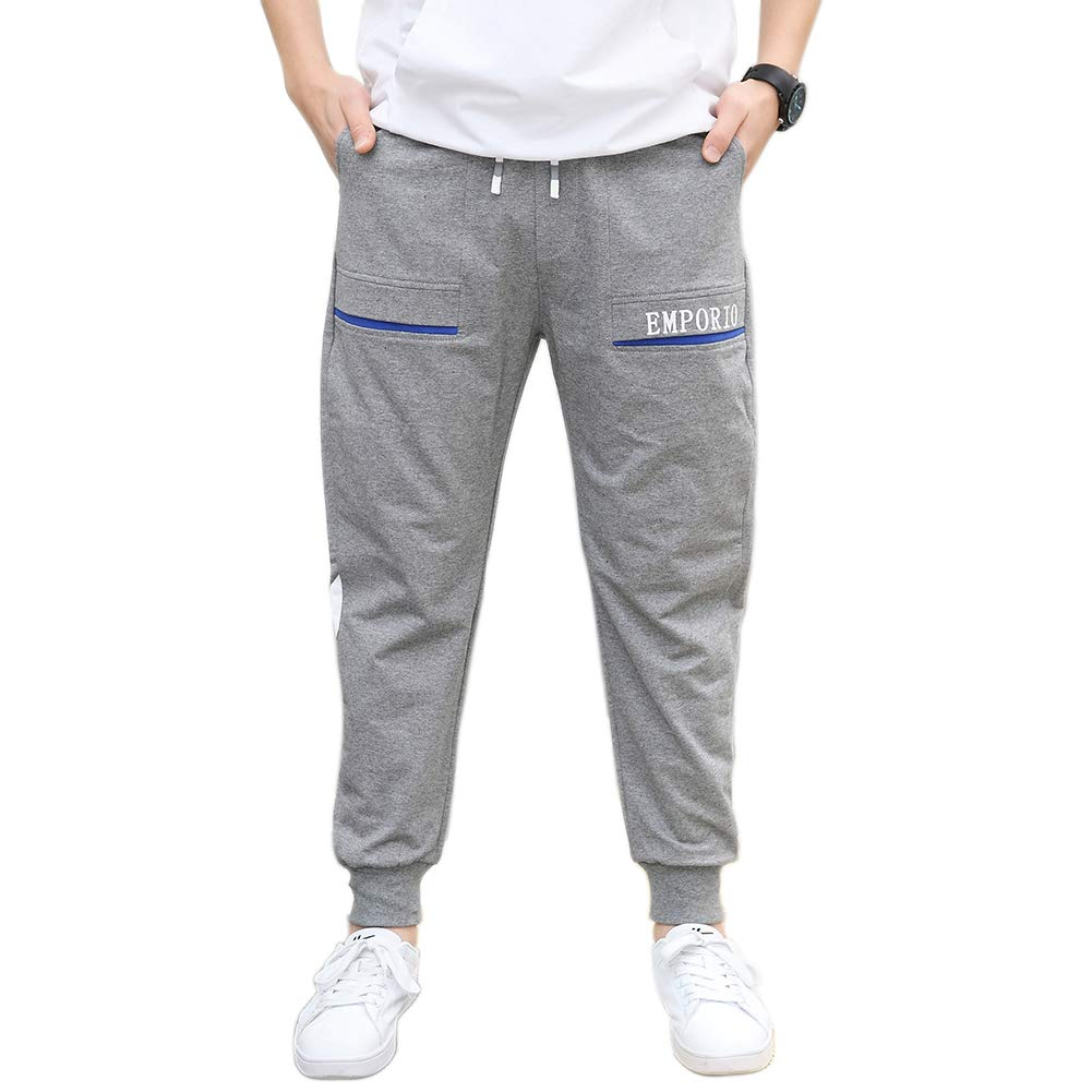 childdkivy Boys Slim Fit Jogger Pants Active Outwear Sweatpants 818 Gray 6T by childdkivy