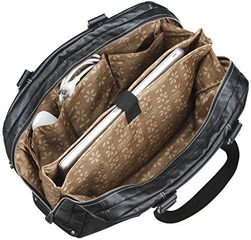 Clark & Mayfield Morrison Leather Laptop Handbag 18.4'' (Black) by Clark & Mayfield (Image #4)