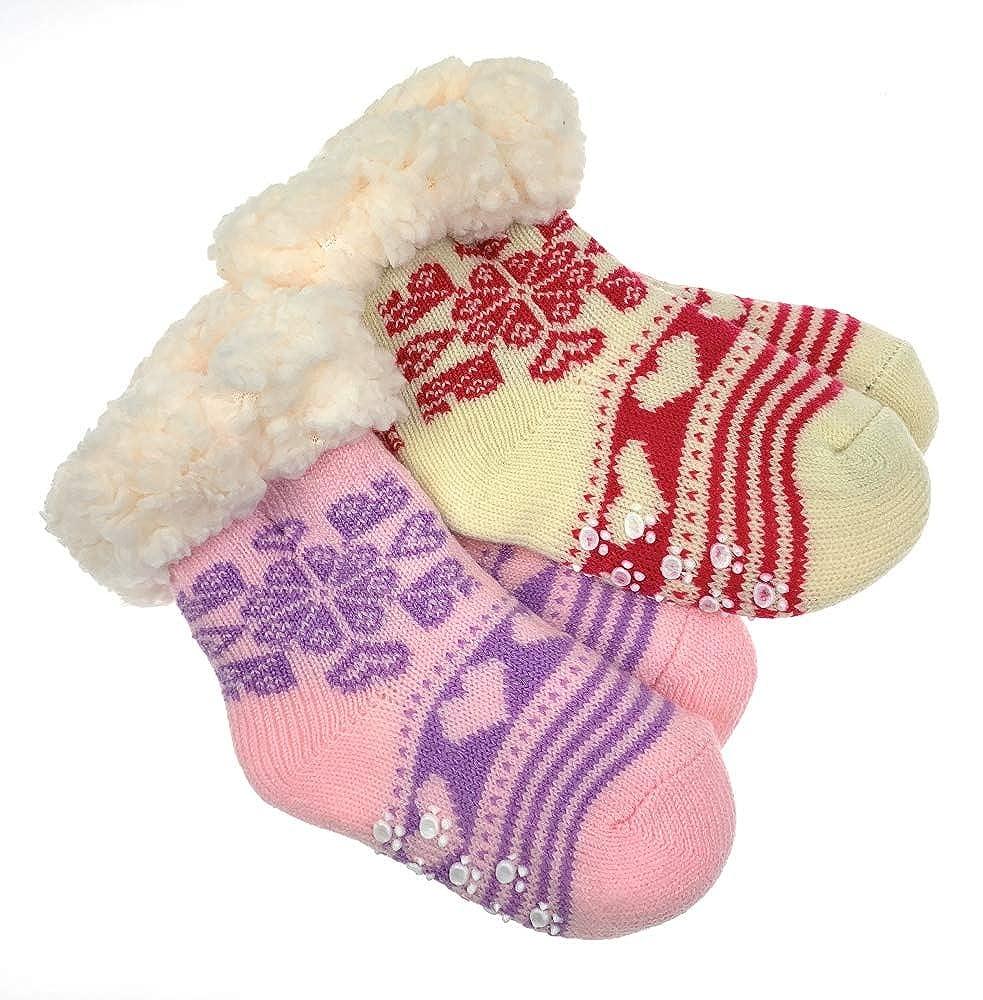 4 Paar Baby Kuschelsocken Bettsocken Kuschel Socken Haussocken