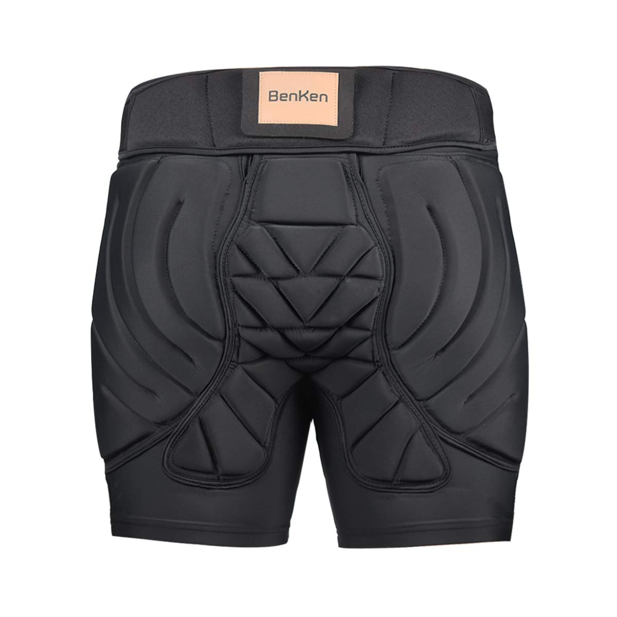 BenKen Hip Padded Pants,Women Men Anti-Fall Butt Protection Crash Pants for Mountain Bike Skateboarding Cycling Street Motocross Climbing (26''-43'' Waist)(Black L)