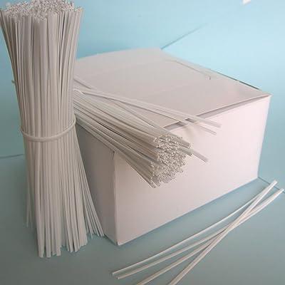 """1000pcs 5"""" (12.7cm) Plastic White Twist Ties - Oval : Garden Twist Ties : Garden & Outdoor"""