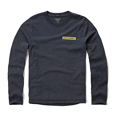 d40203726 Abercrombie & Fitch Applique Logo Graphic Long Sleeve T-Shirt in Navy - New  Label