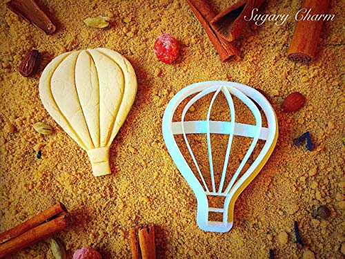 Hot Air Balloon Shape Cookie Cutter - Avation Incredibles Cutters for Baking Cookies - Sugarbelle Fly Balloons Playdough Imprint - Eco Friendly Kitchen Embosser by Sugary Charm