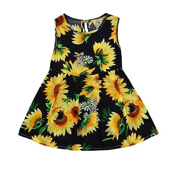 Beikoard Niña Vestido Liquidación, Falda de Tul niña Bebe niña Impresion Floral Vestido de Fiesta