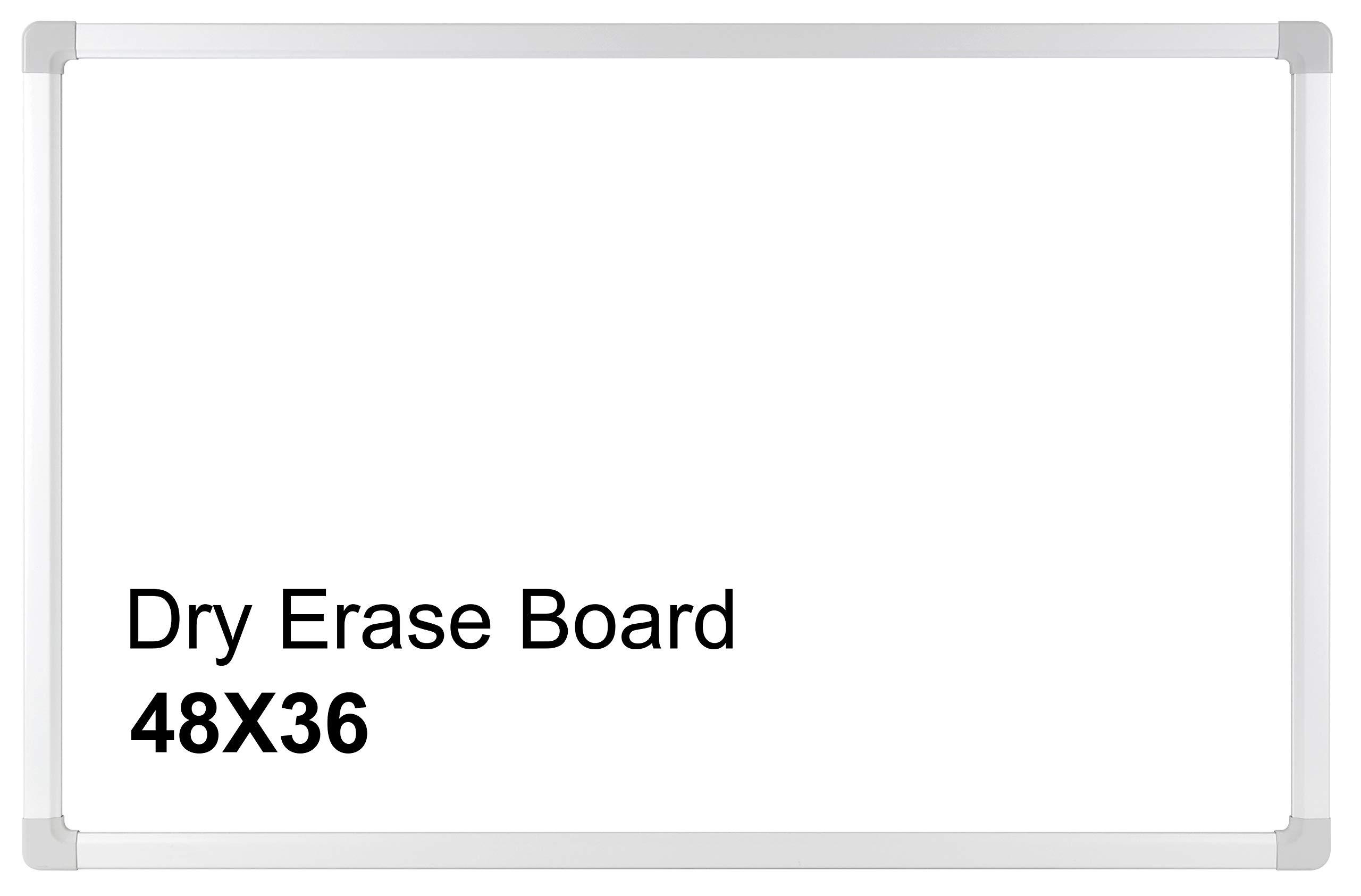 The Moon, Melamine Whiteboard/Dry Erase Board, Silver Aluminum Frame (48''x36''),1 Aluminum Marker Tray for School, Home, Office